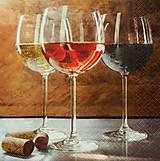 - S500 - Servítky - biele, ružové, červené víno, 3 poháre - 5860113_