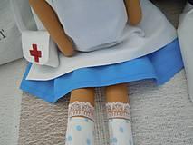 Bábiky - Anjelka - sestrička - 5857555_