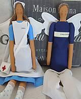 Bábiky - Anjelka - sestrička - 5857559_