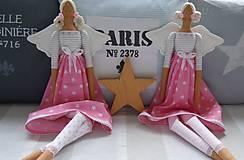 Bábiky - Ružová hviezdičková - 5860592_