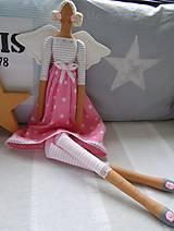 Bábiky - Ružová hviezdičková - 5860594_