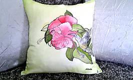 """Úžitkový textil - Vankúš hodvábny  """"kolibrík"""" - 5857754_"""