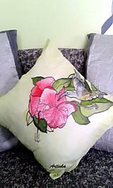 """Úžitkový textil - Vankúš hodvábny  """"kolibrík"""" - 5857759_"""
