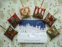 Vianoce - ozdoby Vianočná sada No. 6 (6 ks látkových ozdob)