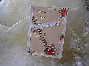 Papiernictvo - Vianočný pozdrav - medvedík - 5858162_