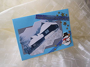 Papiernictvo - Vianočný pozdrav - snehuliak - 5858182_