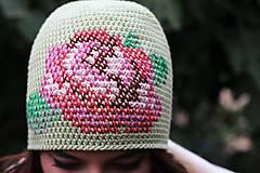 Čiapky - ruženka zelená - 5859857_