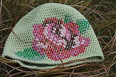 Čiapky - ruženka zelená - 5859859_