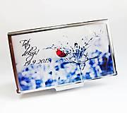 Krabičky - púzdro na vizitky Lienka - 5858356_
