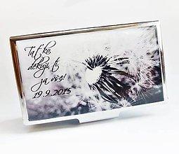 Krabičky - púzdro na vizitky Odkvetlá púpava - 5858319_