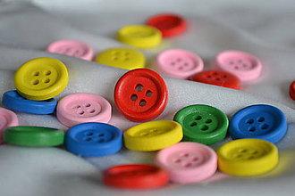 Galantéria - Drevené gombíky farebné, 0.55 na 0.27€/10ks - 5858451_
