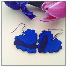 Náušnice - Modré Pixel Vlnky - 5861185_