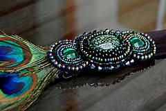 Ozdoby do vlasov - Great Gatsby Peacock ... čelenka - 5864818_