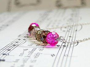 Náhrdelníky - Violet & Magenta - 5862229_