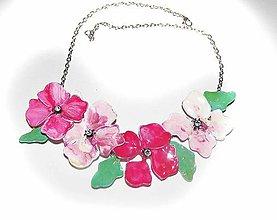 Náhrdelníky - rose flovers- kvetinový náhrdelník - 5864685_