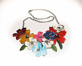 Náhrdelníky - color flowers 19, náhrdelník - 5864784_
