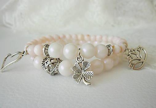 Perličkové náramky s perleťou  2Ks   BijouMade - SAShE.sk - Handmade ... 13ec8c0b512