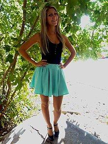 Sukne - MINI kruhová sukňa - 5864778_