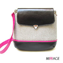 Kabelky - Grace n.18 black & pink - 5864497_