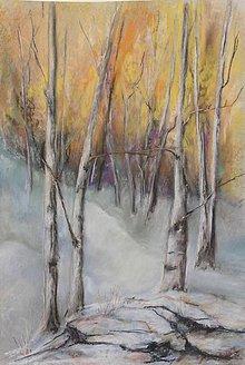 Obrazy - Zimný les - 5863906_