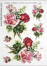 Papier - ryžový papier ruže - 5863245_