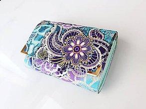 Peňaženky - Fortissimo zelenkavá - peněženka i na karty, 13 cm - 5864759_