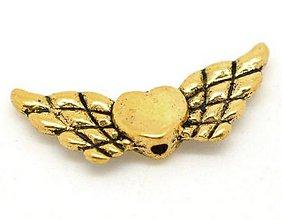 Korálky - Prívesok anjelske krídla - 5864141_