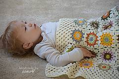 Textil - Detská deka ... Jeseň - 5868293_