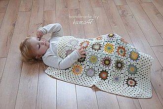 Textil - Detská deka ... Jeseň - 5868297_