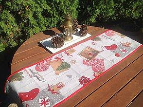 Úžitkový textil - Vianočná štóla - Vidiecke Vianoce II. - - 5866556_