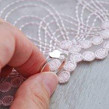 Prstene - Prsteň s mini srdiečkom - 5867056_