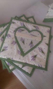 Úžitkový textil - levandulové prestieranie - 5867866_