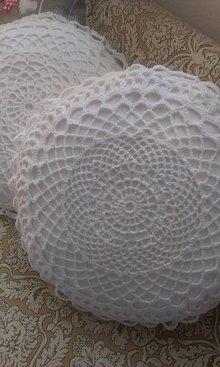Úžitkový textil - hačkovaný vankúš - 5867880_