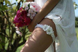 Iné doplnky - Wedding Lace Collection ... podvazek - 5869201_