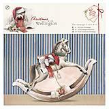 - Sada na výrobu 3D pohľadnice Wellington Christmas - Hojdací koník - 5869625_
