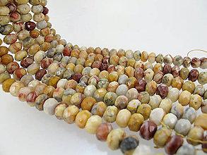 Minerály - Achát rondelkový 8x5 mm - 5869648_
