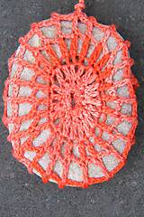 Dekorácie - Kameň obháčkovaný melírom - 5870892_