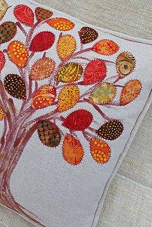 Úžitkový textil - vankúš stromos listonoš :) - 5873557_