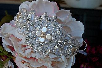 Ozdoby do vlasov - Wedding Lace Collection ... čelenka - 5873862_
