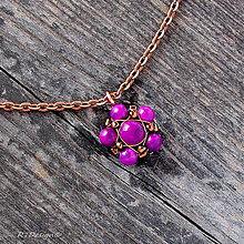 Náhrdelníky - Náhrdelník polodrahokam Purple Sugilit... - 5871777_