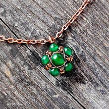 Náhrdelníky - Náhrdelník polodrahokam Green Chalcedon - 5871806_