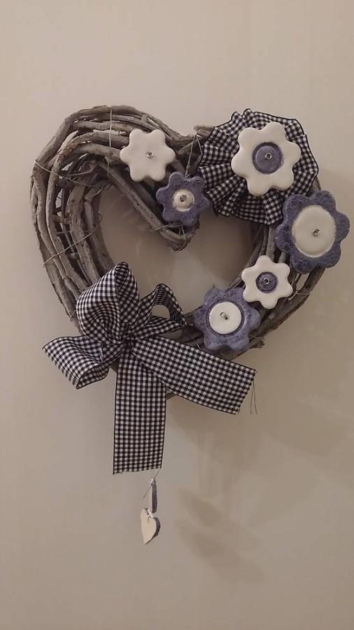 467ba2cde Závesné modré vintage srdce / kutina - SAShE.sk - Handmade Dekorácie