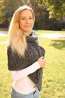 Iné oblečenie - Autumn poncho z alpaky - 5872890_