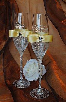 Nádoby - Svadobné poháre - 5877051_