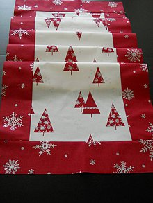 Úžitkový textil - Štóla - Vianočné stromčeky - 5876535_