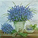Papier - Servítka Levanduľa v kvetináči - 5875626_