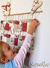 Dekorácie - Adventný kalendár - Karolka - 5877515_