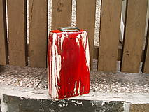 Dekorácie - váza ohnivo červená