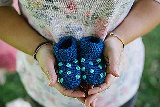Topánočky - Mini papučky (MODRÉ) - 5877882_