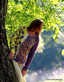 Tričká - Dámske tričko batikované a maľované VITALITA - 5876097_